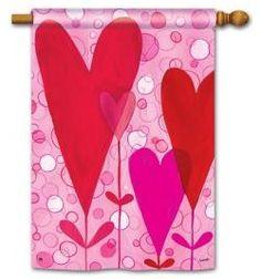 Magnet Works House Flag - Heart Flowers