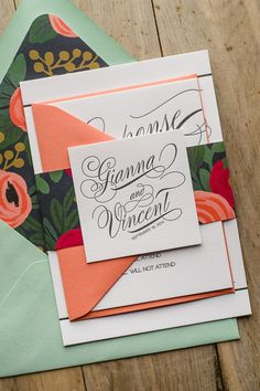 The beautiful GIANNA suite from Just Invite Me #mint #peach