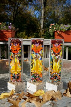 Hand made fused glass totem by CrazyEyeFusedGlass on Etsy
