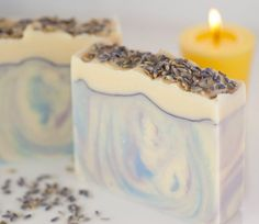 """Goat Milk Soap """"Peaceful Easy Feeling"""" - Organic Shea Butter Lavender Patchouli Ylang Ylang - Cold Process Artisan Soap"""