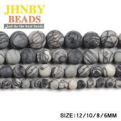 Aliexpress.com: Comprar JHNBY Mate rejilla Negro piedra 6/8/10/12 MM Natural mineral de Piedra bola Redonda Suelta perlas para accesorios de la joyería pulsera que hace DIY de loose beads fiable proveedores en JHNBY (Johan's Beads) Store