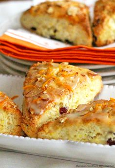Enjoy these Cranberry Orange Sour Cream Scones for breakfast, brunch or tea time as a sweet companion to a cup of coffee or tea. Sour Cream Scones, Lemon Scones, Scone Recipe With Sour Cream, Brunch Recipes, Breakfast Recipes, Breakfast Ideas, Brunch Ideas, Dessert Recipes, Melissas Southern Style Kitchen