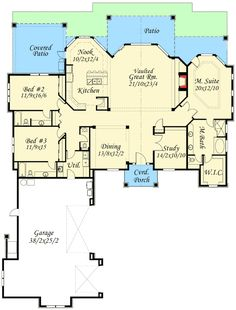 Fabulous Open Layout - 85032MS | 1st Floor Master Suite, CAD Available, Craftsman, Den-Office-Library-Study, Luxury, MBR Sitting Area, Mountain, PDF, Photo Gallery, Premium Collection, Split Bedrooms, Vacation | Architectural Designs