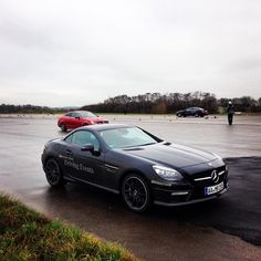 Advanced Driving Training with Mercedes-Benz C 63 AMG Coupe and Mercedes-Benz SLK 55 AMG at the Leipenheim Airfield. photo: gregoboyle. #mercedesbenz #drivertraining #slk55amg #c63amgcoupe #power #airfield #mercedesamg #mbfanphoto