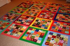 The Q and the U by Riel Nason: I Spy Quilt Top Layout