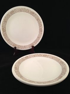 Corelle Woodland Brown Luncheon Plates Set by ThumbBuddyWithLove $8.00 & Corelle Woodland Brown Luncheon Plates Set of 8