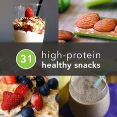 31 Healthy and Portable High-Protein Snacks Don't get in a snack-time rut. Here are 31 tasty and inventive high-protein snacks—one (or more! Healthy Treats, Healthy Habits, Healthy Choices, Healthy Nutrition, Fitness Nutrition, High Protein Snacks, High Protien, Protien Lunch, Snack Recipes