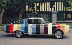 1964 Plymouth Barracuda.  Used to show all the available paint colors you could order you new car.