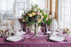 Свадебная сервировка стола #сервировка #стол #декор #цветы #посуда #свадьба