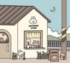 Cute Pastel Wallpaper, Soft Wallpaper, Cute Patterns Wallpaper, Scenery Wallpaper, Cute Anime Wallpaper, Wallpaper Iphone Cute, Cute Cartoon Wallpapers, Stickers Kawaii, Cute Stickers