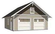 Garage Plans : 2 Car Craftsman Style Garage Plan - 576-14 - 24' x 24' - two car - By Behm Design - Amazon.com