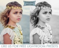These free, yes free, Lightroom presets give you a total of 8 different looks, plus stackable tweaks to perfect your image!  MCP's Mini Enlighten presets help define your style, tone your image, and give your photos a professional, polished look with just a few clicks.  From soft and subtle or dramatically impressive, easy editing is yours.