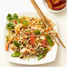 Thai Tofu and Noodle Salad makes a healthy, light, flavorful lunch for any day of the week! #lunch