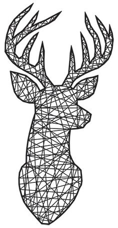 Pin Art String, String Wall Art, Nail String Art, String Art Templates, String Art Patterns, Urban Threads, Embroidery Designs, Hand Embroidery, Deer Pattern