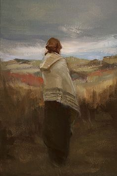 "Johanna Harmon  - Glimpse of Blue Sky, Oil on Linen ~ 12"" High x 8"" Wide"