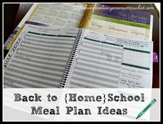 Forever, For Always, No Matter What : Catholic Adoption & Home Education Blog: Back to {Home}School Meal Plan Ideas