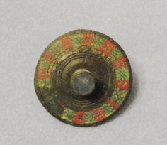 Antiques Atlas - A Roman Ladies Bronze And Enamel Cloak Brooch