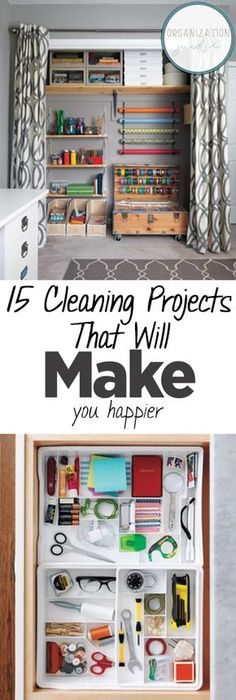 '15 Cleaning Projects That Will Make You Happier...!' (via Organization Junkie)