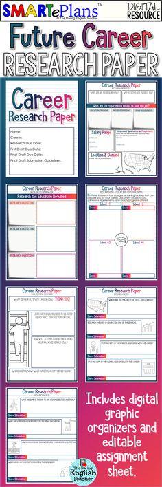003 My Future Career Worksheet School Counselor Material