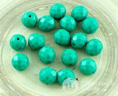 ✔ What's Hot Today: 10pcs Opaque Dark Turquoise Green Czech Glass Round Faceted Fire Polished Beads 10mm https://czechbeadsexclusive.com/product/10pcs-opaque-dark-turquoise-green-czech-glass-round-faceted-fire-polished-beads-10mm/?utm_source=PN&utm_medium=czechbeads&utm_campaign=SNAP #CzechBeadsExclusive #czechbeads #glassbeads #bead #beaded #beading #beadedjewelry #handmade