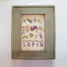 Lapin Rabbit Sample Chart/Pattern for Cross Stitch by AdLeones