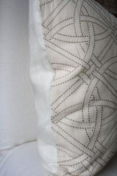 Durance Embroidery in Limestone F Schumacher by MarthaAndAsh