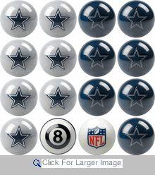 Dallas Cowboys Pool Balls - Home/Away Set