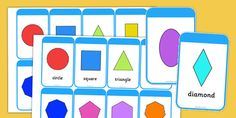 2D Shape Flashcards (inc. Shape Names)