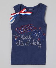 5f0911b9f4 Navy  4th of July  Sparkle Tank - Infant