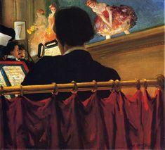 Everett Shinn -  1906-07c 'The Orchestra Pit, Old Proctor's Fifth Avenue Theatre' Oil on canvas, 43.8 x 49.5 cm