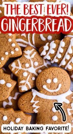 Soft Cookie Recipe, Ginger Bread Cookies Recipe, Cinnamon Cookies, Gingerbread Cookie Recipe No Molasses, Soft Gingerbread Cookies, Gingerbread Men, Holiday Cookies, Easy Baking Recipes, Easy Cookie Recipes
