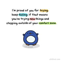 Penguin motivation of the day: keep failing if it... - chibird