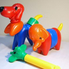 I Remember playing with these As a kid.  I think they were from Tupperware