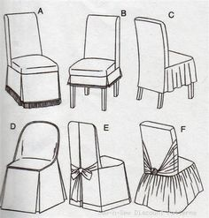 Straight/Parsons/Folding Chair Slipcover PATTERN Cover In Crafts, Sewing U0026  Fabric, Sewing