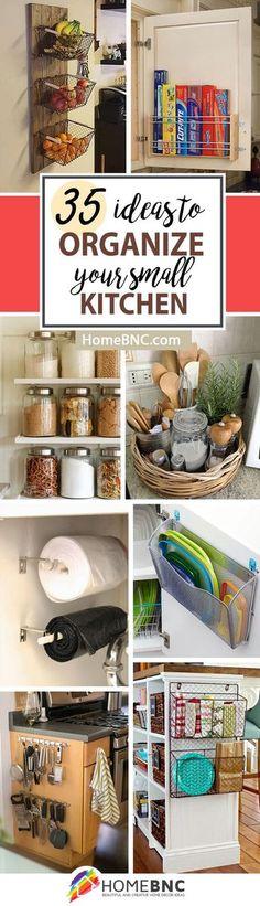 Small Kitchen Storage Organization Decor Ideas