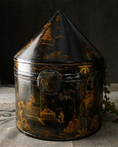 Antique Chinoiserie Hatbox - Horchow