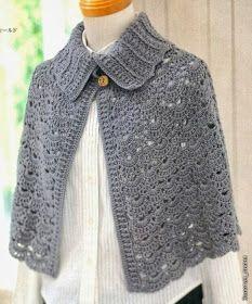 Fabulous Crochet a Little Black Crochet Dress Ideas. Georgeous Crochet a Little Black Crochet Dress Ideas. Crochet Cape, Crochet Cardigan, Crochet Scarves, Irish Crochet, Crochet Clothes, Knit Crochet, Lace Sweater, Free Crochet, Crochet Shawls And Wraps