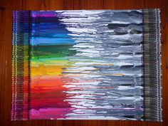 Black and white vs color crayon art....think i would tape a border and remove crayons