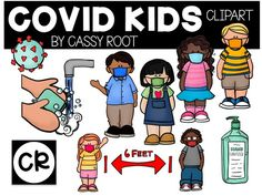 Covid Kids Digital Clipart  Kids in Masks | Etsy Classroom Clipart, School Clipart, Classroom Decor, Nurse Clip Art, School Signage, School Nurse Office, School Safety, Leader In Me, School