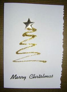 you could make these as your christmas cards with glitter glue!