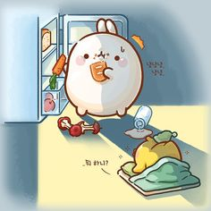 What are you doing late in the night Molang? 😂😄 ⭐️⭐️⭐️Anyone has the same experience as Molang? Kawaii Bunny, Cute Kawaii Animals, Cute Animal Drawings Kawaii, Cute Drawings, Kawaii Wallpaper, Cute Wallpaper Backgrounds, Cute Cartoon Wallpapers, Kawaii Doodles, Cute Doodles