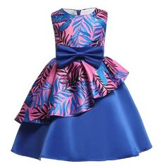 Girls floral Princess Party Dress Children Birthday Wedding clothes Summer Toddler  baby Dresses 2 3 4 5 6 7 8 9 10 Kids Clothes 49c0f847a4ac