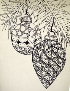 zentangle baubles