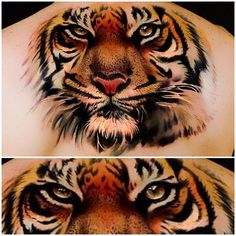Tiger tattoo – is an animal tattoo idea which with its popularity not cede to lion tattoo trend. Tiger tattoo idea is one of the popular tattoo trends in the Realistic Tiger Tattoo, Tiger Face Tattoo, Japanese Tiger Tattoo, Tiger Tattoo Design, Japanese Tattoos, Lion Tattoo, 3d Tattoos, Animal Tattoos, Body Art Tattoos