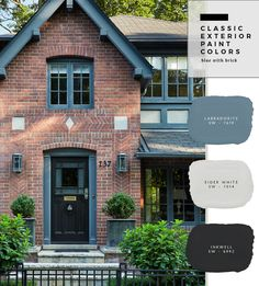 What's So Trendy About Brick Home Exterior Color Schemes That Everyone Went Crazy Over It? - What's So Trendy About Brick Home Exterior Color Schemes That Everyone Went Crazy Over It? - brick home exterior color schemes Exterior Paint Color Combinations, Exterior Color Palette, House Paint Color Combination, Color Combos, Best Exterior Paint, Exterior Paint Colors For House, Paint Colors For Home, Tudor Exterior Paint, Brick Exterior Makeover
