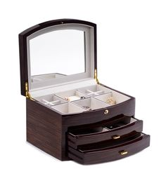 Bey-Berk | Curved Wood Jewelry Box | SAKS OFF 5TH