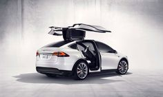 Tesla's first Model X electric SUVs sell for $132k #design #electric #car