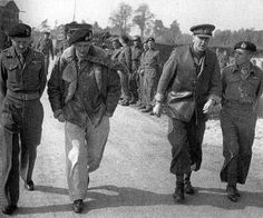 Monty and his commanders General Montgomery, accompanied by his spearhead (Operation Market-Garden) commanders near the Meuse-Escaut Canal on September 15, 1944. From left to right: Major General Allan Adair; Montgomery; Lieutenant General Sir Brian Horro