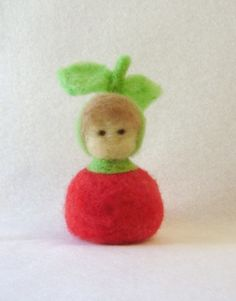 Needle Felted Apple Child Waldorf Style by EarthyMamaGoods on Etsy,