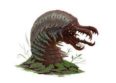 Alien worm, Glenn Baillie on ArtStation at https://www.artstation.com/artwork/XPJga